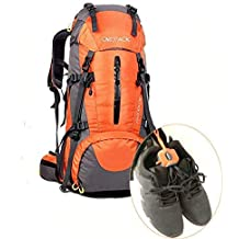The Footwear Clip Hangs Tie Holds Sport Shoes on Any Bag for Running, Climbing, Hiking,Cycling(Orange,1 Pieces)