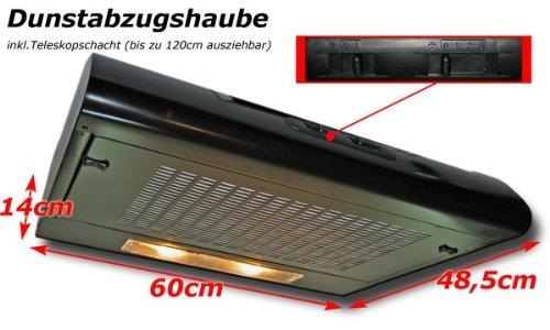 Dunstabzugshaube 60cm mit beleuchtung und teleskopschacht: amazon.de