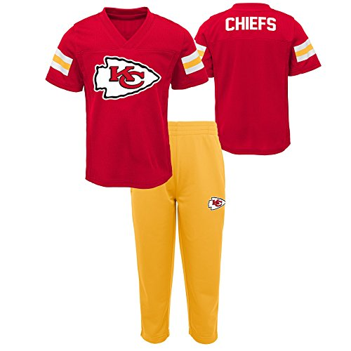 NFL by Outerstuff NFL Kansas City Chiefs Kids Training Camp Short Sleeve Top & Pant Set Red, Kids (Nfl Camp Shirt)