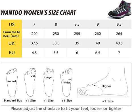 Wantdo Women's Waterproof Hiking Boots Winter Snow Boots Non Slip Work Shoes Winter Walking Boots