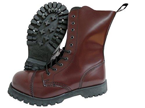 Cap Toe 10 Eye Boot (Boots & Braces England Men´s 10 Eye Oxblood Steel Toe Rangers (10UK/11US/44EU Mens))
