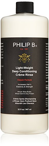 PHILIP B Light-Weight Deep Conditioning Cream Rinse Conditioner, Classic Formula, 32 fl. (Philip B African Shea Butter)