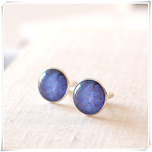 Wedding Cufflinks. Lapis Lazuli Cufflinks, Men Blue Lapis Cuff Links