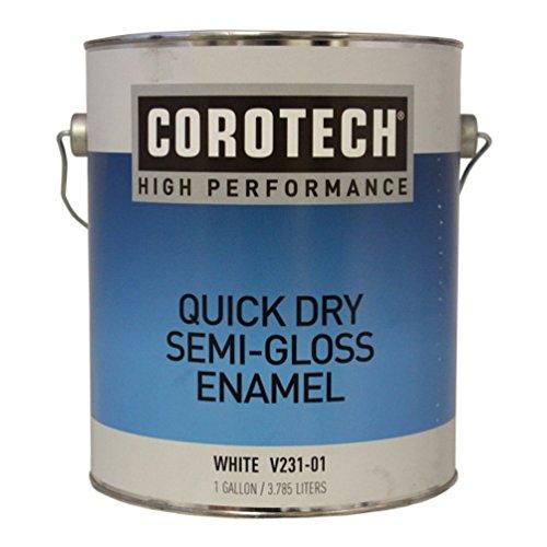 Gallon 15-Minute Semi-Gloss White Enamel Paint