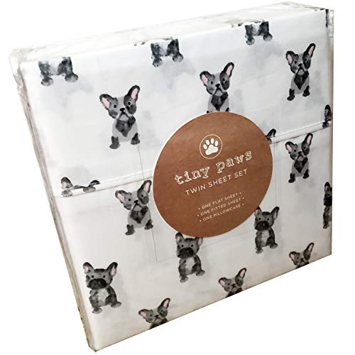 Tiny Paws Cute Curious Puppy Dog Sheet Set (Twin)