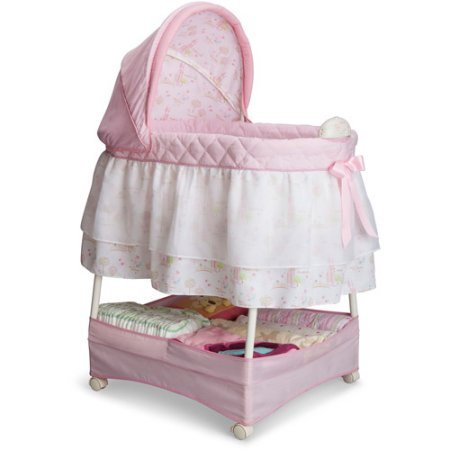 Disney Princess Gliding Bassinet, Pink by Disney