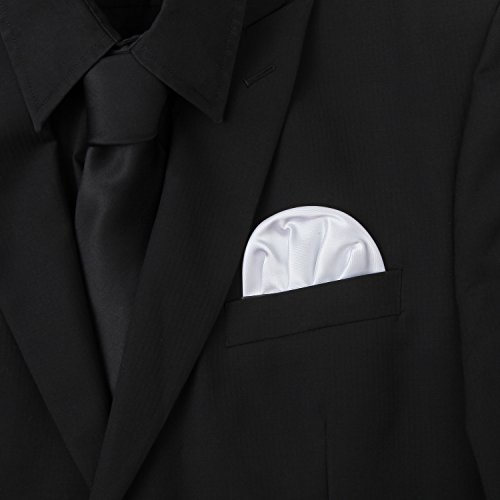 3-Pk White Pocket Square Set Pre Folded, Pesko, Crown and Puff Folds by Puentes Denver (Image #1)
