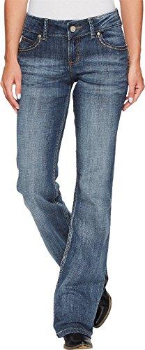 Wrangler Women's Retro Sadie Low Rise Stretch Boot Cut Jean, Medium Blue, 7X32