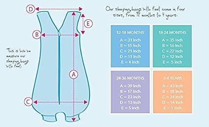 Slumbersafe Winter Sleeping Bag With Feet 3.5 Tog Simply Teal Stars 18-24 months