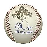 Cole Hamels Philadelphia Phillies Autographed 2008 World Series MVP Signed Rawlings Baseball JSA COA With UV Display Case