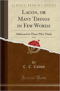 Torrent Para Descargar Lacon, Or Many Things In Few Words, Vol. 2: Addressed To Those Who Think PDF Gratis Sin Registrarse