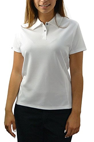 Bermuda Eyelet (Bermuda Sands Women's LADY BREEZE - Micro Fiber Golf Shirt- White - Large)