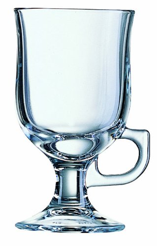 BHL Friends Time Irish Coffee Glass Plain, 24cl, Set of 2 Luminarc A09794 Champagne Water