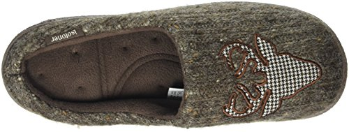 Isotoner Isotoner Mens Novelty Mule - Pantuflas Hombre Gris (Taupe)