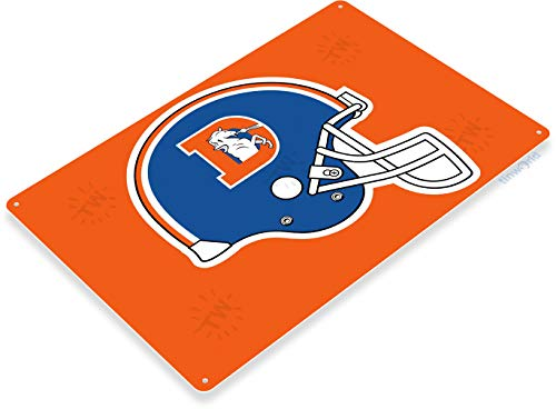 Tinworld Tin Sign Denver Broncos Retro Football Sports Metal Sign Decor Bar Pub Cave B133