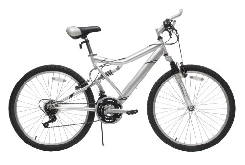 Reaction  ICO-SH Full-Suspension Mountain Bike, Silver (18-Inch)
