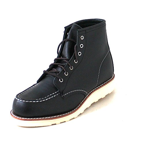 Red Wing Heritage Women's 6 Inch Moc Work Boot, Black Boundary, 11 B US