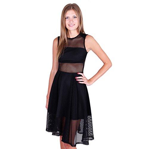 AMAZING London Damen Cocktail Kleid schwarz schwarz OPrXs - poodle ...