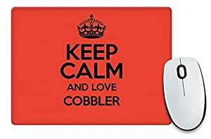 Rojo Keep Calm and Love color 2332 Cobbler alfombrilla de ratón