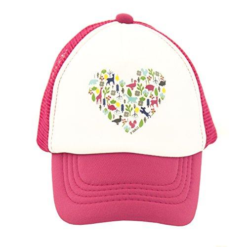 JP DOoDLES® Heart On Baby Infant Trucker Hat (Mini 18 Mos-2.5 yrs, Hot Pink) (Little Bitty Hat)