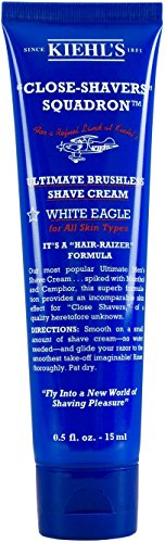 Brushless Cream Shave (KiehI's Close Shavers Squadron Ultimate Brushless Shave Cream White Eagle Travel Size)