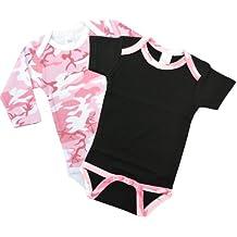 Pink Camo Onesie Gift Set - BOTH LS & SS