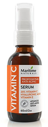 CANADA'S PREMIUM 60ML 20% Vitamin C Serum With 11% Hyaluronic Acid & Vitamin E Moisturizer - Organic Face Topical Serum- Anti-Aging, Anti-Wrinkle, Reduce Age Spots & Dark Circles,FACELIFT IN A BOTTLE,Safe for sensitive skin,Collagen boost