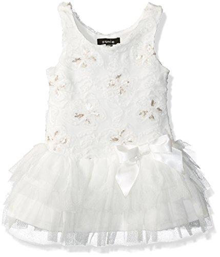 ZUNIE Girls' Toddler Soutache Butterfly Dropwaist Dress, Champagne, - Dress Clothes Soutache