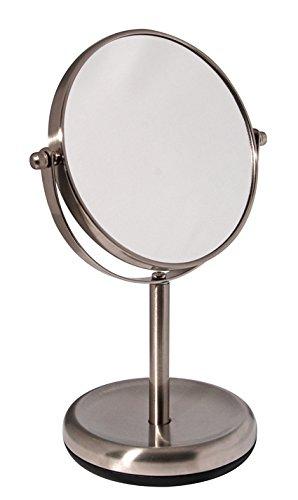 Bumper-Serie - Kosmetikspiegel/Standspiegel hochwertigem Edelstahl, matt, gebürstet