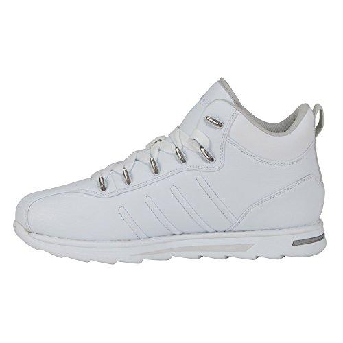 Lugz Mens Changeover Mid Sneaker White/Glacier Perma Hide DOpCr