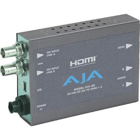 AJA Hi5-3G 3G/Dual Link/HD-SD-SDI to HDMI Video and Audio Converter by AJA Video Systems