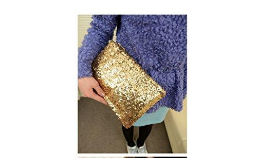 xinyiwei lujo boda fiesta bolsa de embrague brillante con lentejuelas bolso de mano bolso de mano, dorado dorado
