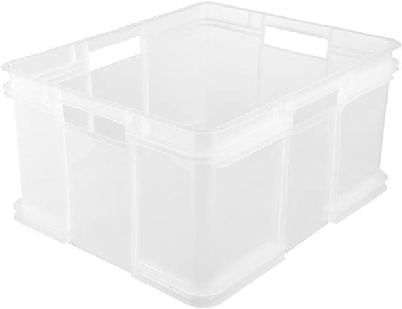 keeeper Caja de almacenaje Eurobox XXL, Plástico robusto (PP), 52 x 43 x 28 cm, 54 l, Bruno, Transparente neutro: Amazon.es: Hogar