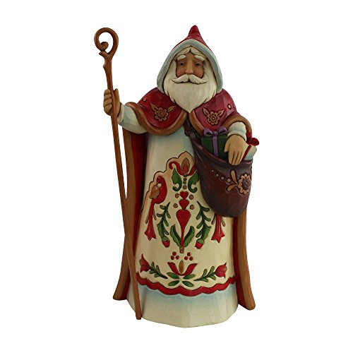 Enesco Jim Shore Heartwood Creek Santa's Around the World Austrian Stone Resin Figurine, 7""