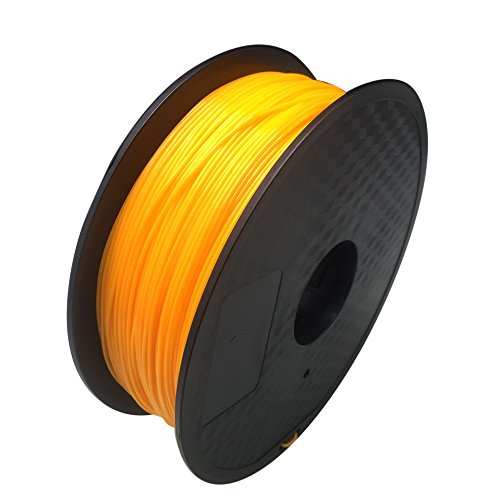 HICTOP 1.75mm PLA 3D-Drucker Glühfaden - 1 kg Spule (2,2 lbs) - Dimensional Genauigkeit +/- 0,05 mm (orange)