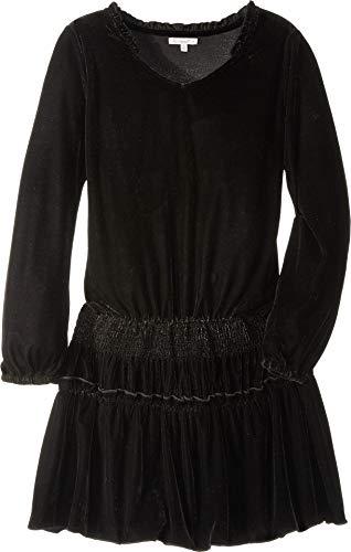 (Ella Moss Girls' Big Dress Velvet, Black)