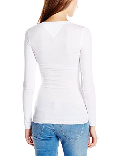 Hilfiger Denim Original Henley-Camiseta sin mangas Mujer, blanco