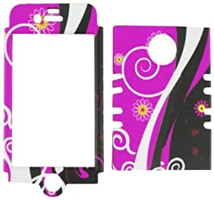iphone covers fashion case Cell Armor Rocker Snap-On case cover for Iphone 6 plus - Retail Packaging - Flowers on Magenta SZdoWl5vncV and Black