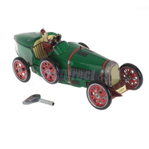 Shalleen Vintage Metal Wind-up Roadster Racing Car Collectibles Toy Party Gift Cool Decor