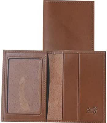 Scully Mens Leather ID and Card Case Wallet