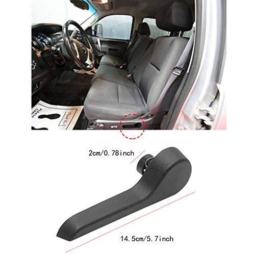 Seat Recliner Handle LH Driver Side Front Ebony for Chevy GMC Pickup Truck SUV (Black)