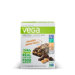 VEGA BAR, CHOC PNT BTR, PROTEIN+ , Pack of 12