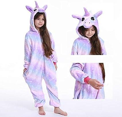 Pijama Unicornio Kigurumi Onesie niños Unicornio Pijamas for ...