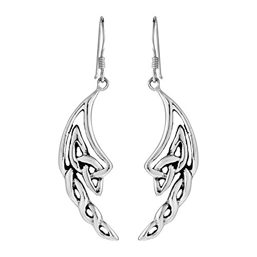 (.925 Sterling Silver Celtic Knotted Angel Wings Dangle)
