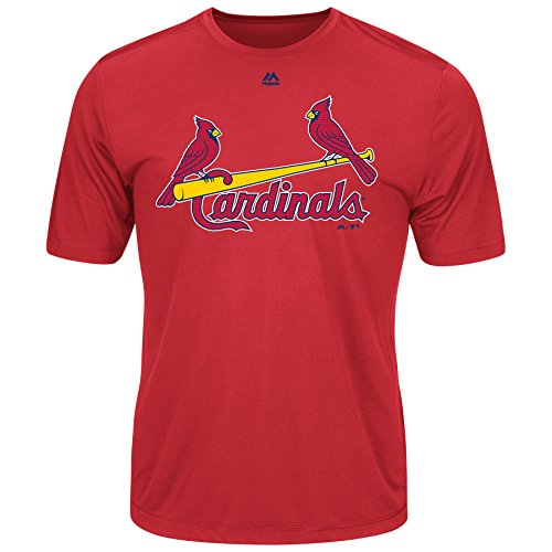 Majestic Men's Cool Base MLB Evolution Shirt St Louis Cardinals Medium