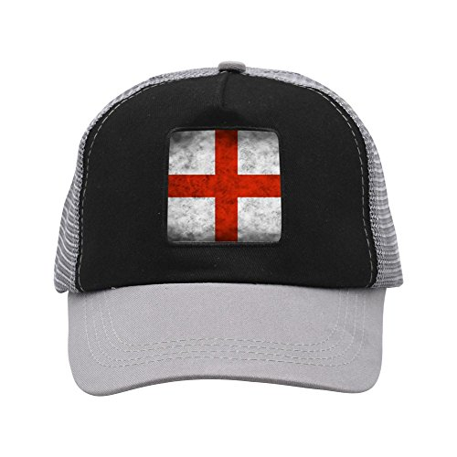 England 2018 football World Cup Baseball Adult Unisex Mesh Caps Gray ()
