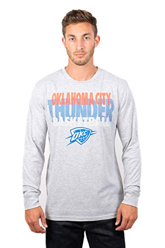 UNK NBA Adult Men T Supreme Long Sleeve Pullover Tee Shirt, Gray, Large
