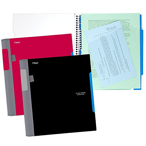 Five Star Advance Spiral Notebooks, 1 Subject, College Ruled Paper, 100 Sheets, 11