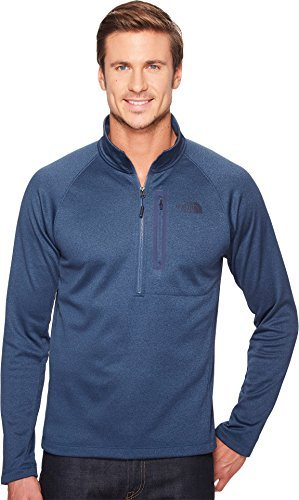 The North Face Men's Canyonlands 1/2 Zip Shady Blue Heather - M