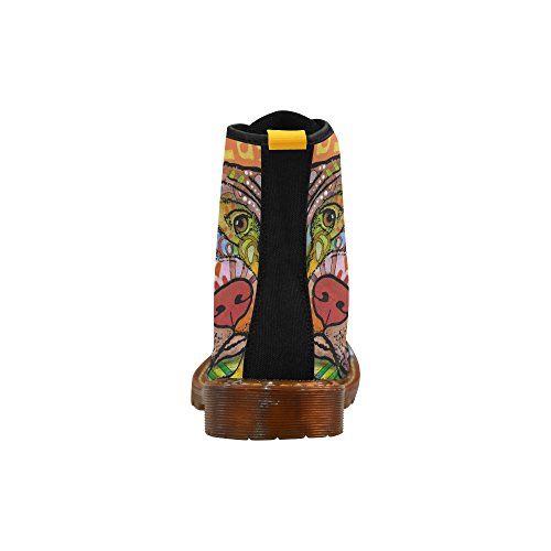 Scarpe D-story Scarpe Stringate Colorate Per Stivali Da Donna Martin